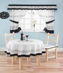 Modern Kitchen Curtains kitchen attractive black and white modern kitchen window curtain 6725 by uwakikaiketsu.us