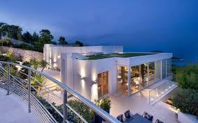 modern houses architecture. Contemporary Facade At Night Modern Houses Architecture C