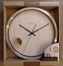 chaney 12 nickel finish wall clock model 75464kl brand new w tags
