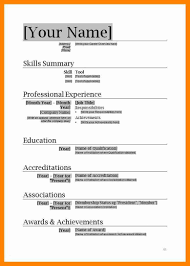 25 Sample Resume Template Free Word Professional Resume Example