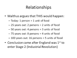 malthus overpopulation extremely important thomas malthus st to 3 relationships