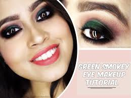 quick simple and easy green smokey eye makeup tutorial