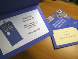 dr who wedding invitations. the dr who wedding invitations