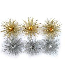 Decorative Balls Walmart Holiday Time Ornaments Walmart Com Glitter Burst Gold And Silver 100