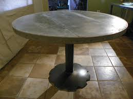 101 2132 round zinc top dining table