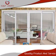 china high end aluminium soundproof glass sliding door with inside shutters china door sliding door