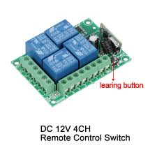 universal 433mhz rf 12v 4 channel remote control switch wireless remote control relay receiver momentary toggle switches s3 in switches from lights