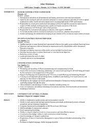 Construction Supervisor Resume Samples Velvet Jobs