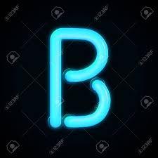 Light Blue B Blue Neon Glowing Light Letter B Capital Letter 3d Rendering