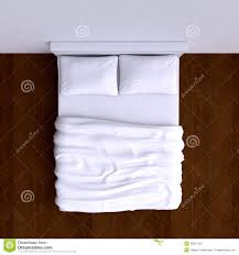 Bed top view Transparent Bed With Pillows And Blanket In The Corner Room 3d Illustration Top View Istock Bed With Pillows And Blanket In The Corner Room 3d Illustration