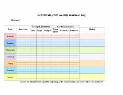 Diet And Exercise Log Printable Workout Template Food Journal