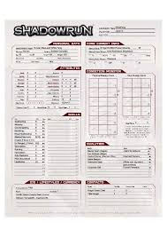 shadowrun 5 character sheet tg traditional games