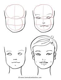 how to draw the face eyes nose and lips