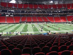 Mercedes Benz Stadium View From Lower Level C129 Vivid Seats