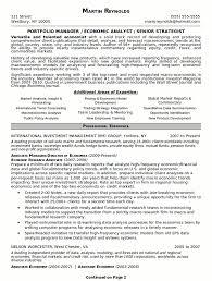 Gallery Of Resume Sample 15 Portfolio Manager Resume Career Resumes