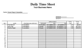 Time Sheet Online Timesheet Template