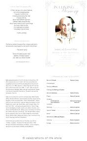 How To Make A Funeral Program In Word Memorial Service Template Free