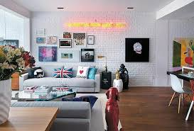 White Brick Wall Interior Designs To Enter Elegance In The HomeWhite Brick Wall Living Room