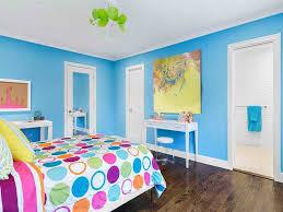 Blaue Wandfarbe Und Weiße Decke Dekoration Für Einfache Teenager