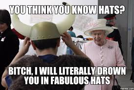 Image result for queen elizabeth's hat memes