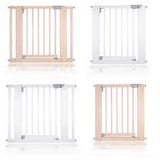safetots chunky wooden pressure fit pet gate natural 74cm 81cm
