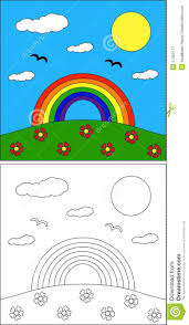 Good for weather, colors, bible, wizard of oz and saint patrick's day themes. Rainbow Coloring Page Illustration 27353177 Megapixl
