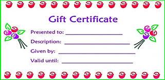 28 Cool Printable Gift Certificates Printable Gift Certificates