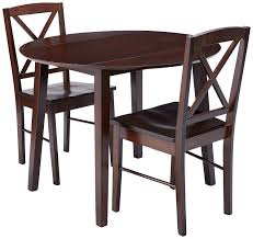 Gaines 3 Piece Kitchen Dining Set Cappuccino Wood 39 Round