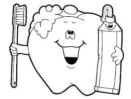 Tooth Coloring Picture Tooth Coloring Sheet Healthy Eating Colouring