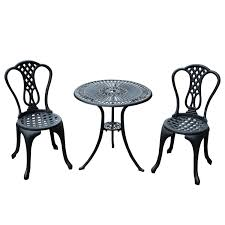 outdoor cast iron aluminium bistro table chair setting. homcom 3 piece patio cast aluminium bistro set garden outdoor furniture table and chairs shabby chic style: amazon.co.uk: \u0026 outdoors iron chair setting a
