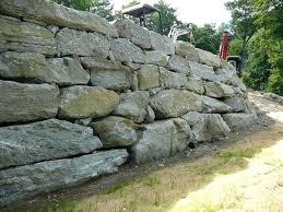 boulders wall boulder retaining wall boulder retaining wall drainage