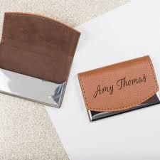 Personalized Business Card Holder Laser Engraved Custom Card Case