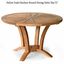 6 feet teak heavy built round outdoor
