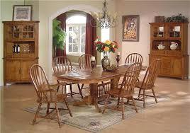 oak refectory table set