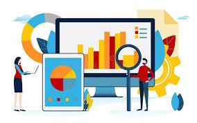 Chart Cartoon Data Analysis Business Content Graph Pie Chart Info