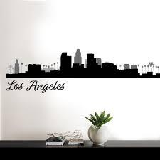 wallpops los angeles black cityscape wall art kit