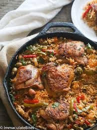 puerto rican rice and beans with chicken.  With One Pot Puerto Rican Chicken And Rice Intended And Beans With R