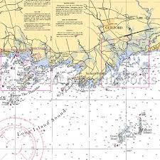 Connecticut Guilford Ct Thimbles Falkner Nautical Chart Decor
