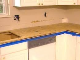 plywood attached to top of cabinets