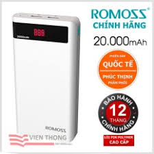 Kết quả hình ảnh cho PIN DU PHONG ROMOSS 20000MAH LCD
