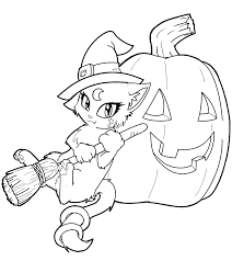 Small Picture Kitty Cat Free Halloween Coloring Pages For Kindergarten