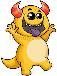 funny monster vector cartoon clipart