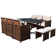 devoko 11 pieces patio dining sets