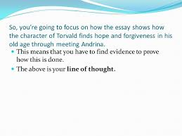 how to ensure that you have a decent essay plan remember that in  so you re going to focus on how the essay shows how the character