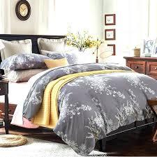 grey yellow duvet covers 100 egyptian cotton white leaf print 4pcs bedding sets1 grey duvet cover