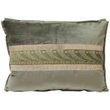velvet bolster pillow. Wonderful Pillow 19th Century Green And Silver Antique Velvet Ribbon Decorative Bolster  Pillow For Sale Inside L