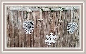 Fensterdeko Weihnachten Advent Winter Gehänge Zapfen