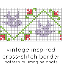 Cross Stitch Free Patterns Mesmerizing Free Pattern Vintage Inspired Crossstitch Border Imagine Gnats