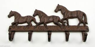 Western Coat Rack Cast Iron Horse Wall Hook Key Or Coat Rack Western Decor 100 79