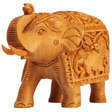 bulk whole hand carved kadam wood statue sculpture of elephant with intricate
